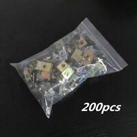 200pcs Metal Fastener U Nuts Car Panel Trim Fenders Self Tapping Screw Clip Hot