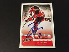 Zach Parise Devils Wild 2011-12 UD UD VICTORY Stars of the Game Signed Auto Card