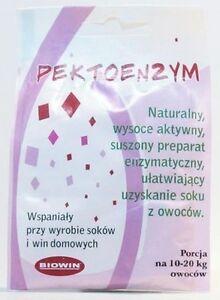 Antigeliermittel Pektinase 6g trocken hilfreich bei der Saftgewinung