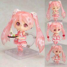 Collections Anime Nendoroid Figure Toy Sakura Hatsune Miku Action Figurine 10cm