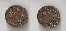 Switzerland 2 rappen 1909 B