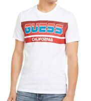 Guess Mens T-Shirt Red White Size Small S Graphic Tee Logo Printed $39- #191