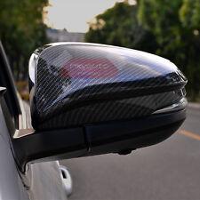 New Carbon Fiber Look Door Side Mirror Cover For Toyota Highlander 2014-2017