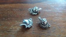 medieval   helmet charm silver alloy  NEW pagan goth  jewellery