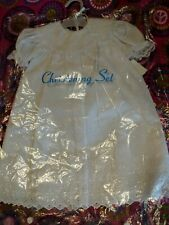 Christening Gown Set  Girls 6-12 Months White Eyelet