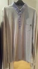 Antony Morato grey long sleeved polo top size XL