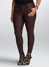 Torrid Premium Faux Leather Jegging Oxblood Plum Short Plus Size: 26W 26 #84776