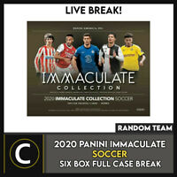 2020 PANINI IMMACULATE SOCCER 6 BOX (FULL CASE) BREAK #S119 - RANDOM TEAMS -