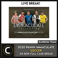 2020 PANINI IMMACULATE SOCCER 6 BOX (FULL CASE) BREAK #S119 - RANDOM TEAMS -