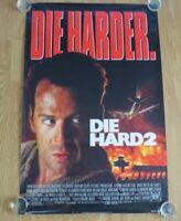 """DIE HARD 2 ORIGINAL CINEMA ROLLED MOVIE FILM POSTER 1990 Bruce Willis 27 """" X 41"""""""
