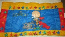"Caillou toddler child size sleeping bag blanket 55"" long red blue yellow stars"