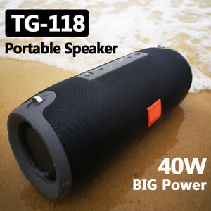 40w Portable Wireless Bluetooth Speaker Waterproof Stereo Bass USB/TF/AUX MP3 UK