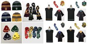 Harry Potter Costume Cosplay Beanie Scarf Tie Gloves Socks Gryffindor Ravenclaw