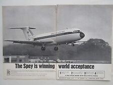 2/1964 PUB ROLLS-ROYCE SPEY ENGINES BAC ONE-ELEVEN BRITISH UNITED ORIGINAL AD