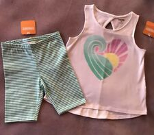 Gymboree Girls Heatwave Keyhole Tank Striped Bike Shorts Size 5T