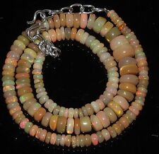 """84Ctw1Necklace 3.5to8.5mm16""""Beads Natural Genuine Ethiopian Welo Fire Opal RR430"""