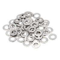 100pcs Stainless Steel Standard Metric Flat Washers Kit M1.6/M3/M4/M5/M6/M8/M10