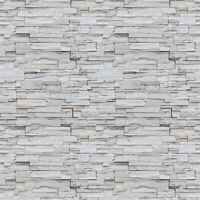 10m 3D Rustic Grey Brick Stone Wallpaper Sticker Vinyl Wall Covering Living Room