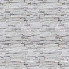 10m 3D Rustic Grey Brick Stone Wallpaper Sticker Vinyl Wall Covering Living Room