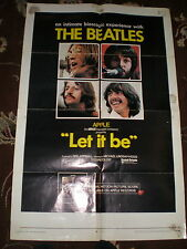 The Beatles PROMO POSTER Let It Be 1970