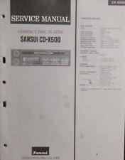 Sansui CD-X500 in-car CD player service repair workshop manual (original copy)
