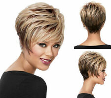 Sexy Women Fashion Blonde Brown Mix Straight Ladies Cosplay Party Heat Full Wigs