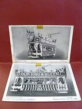 2 Postcards UK Royal Visit 1909 to Birmingham Decorated Tram Trolley Car
