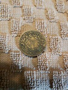 1921 Tunisia 1 Franc Coin