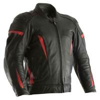 RST GT CE Motorcycle Motorbike Leather Jacket Black / Red