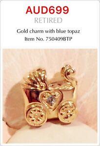 Brand New Pandora 14K Gold charm, 750409BTP, Rare To Find!