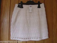 Hollister White Lined Crochet Skirt Size M Medium NEW (tags) RRP £39 (Ref Z)