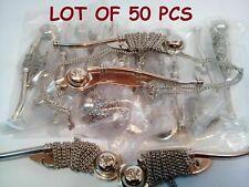 "Lot Of 50 Pcs Brass Nickel Boatswain's Pipe Bosun Whistle 5"" Gift"
