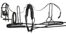 "Tracker Leather Pony Driving Harness - Medium - Fits 37""-46"" tall - 450-600 lbs"