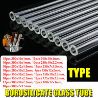 15 Types 10/12/15/20Pcs Thick Test Blow Glass Wall Borosilicate Blowing Tube O