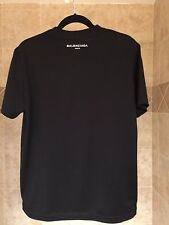 BALENCIAGA CLASSIC LOGO T-SHIRT Back Tee Black Size Large Paris Kanye West