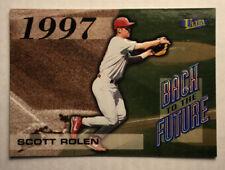 1998 Ultra Back to the Future #6 Scott Rolen Insert Philadelphia Phillies
