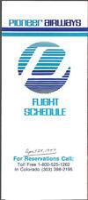 Pioneer Airways system timetable 4/24/77 [7112]