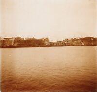 Melilla 1908 Spagna Foto Stereo PL58L33n1 Placca Lente Vintage