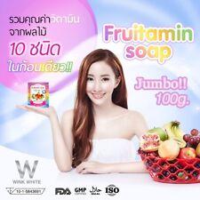 4x100g Fruitamin Soap Glutathione Whitening Skin 10 in 1 Wink White
