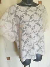 TOP BLOUSE SMALL LOOSE OVERSIZED FLORAL LACE COTTON MIX BOHO QUIRKY NEXT