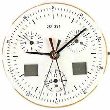 ETA 251.251 quartz chronograph vintage Omega, Longines, TAG Heuer watch movement