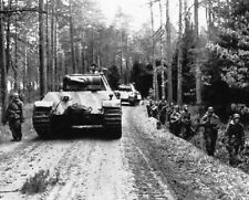 """German Panther Tanks and Soldiers on the move 8""""x 10"""" World War II WW2 Photo 667"""