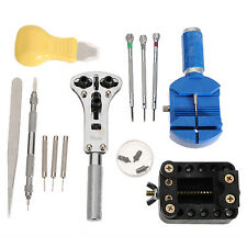 WATCH Repair Tool Kit con Case Link Remover Spring Bar Tool Bracciale RIPARAZIONE