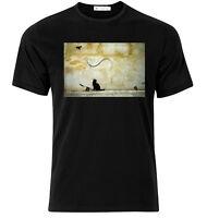 Cat Mouse Banksy  - Graphic Cotton T Shirt Short & Long Sleeve