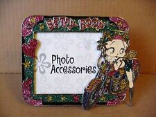 Betty Boop PICTURE FRAME BIKER GLITTER DESIGN