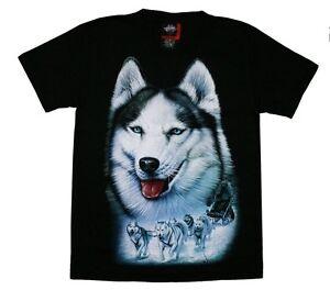 T-Shirt Husky Alaska Gr. XXL 2XL Indianer Biker Cowboy Hund Wolf Schlittenhund