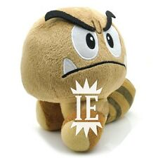 SUPER MARIO BROS. GOOMBA RACCOON PELUCHE plush new wii ds paragoomba fungo fly 3