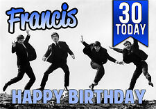 Personalised The Beatles Birthday Greeting Card A5