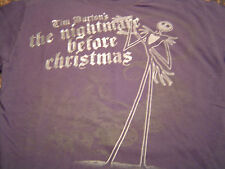 Rad THE NIGHTMARE BEFORE CHRISTMAS T-Shirt Size M/Jack Skellington/Goth Punk/NEW