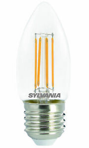 Sylvania dimmable LED candle light bulb E27 ES 4.5W = 40W 470lm warm white